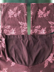 Thyme Maternity Stretch Red Printed Pants, Size L