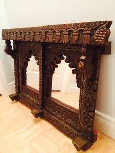 Double wooden antique mirror frame West Island Greater Montréal image 2
