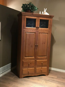 Locally Made Pine Cabinet Entertainment Unit