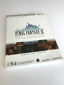 FINAL FANTASY XI OFFICIAL STRATEGY GUIDE BRADY GAMES