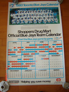 1980 Toronto Blue Jays Shoppers Schedule/Calendar/Team Poster