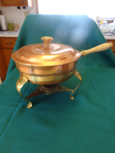 BRASS AND COPPER CHAFING DISH