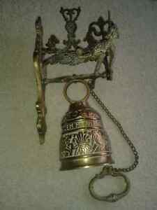 Unique wall mounted brass servant's bell Sarnia Sarnia Area image 3