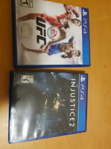 Injustice 2 and ufc for ps4 $25 for both