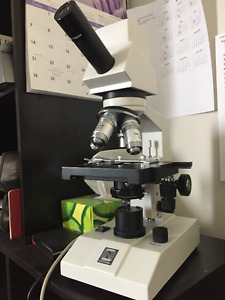 Microscope and accessories, science, school, education