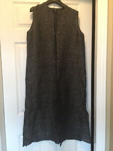 Linen Eileen Fisher long vest