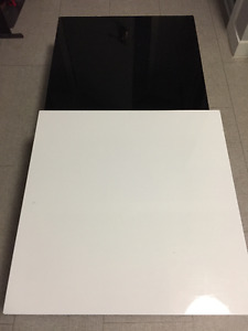Modern black and white coffee table