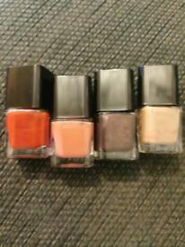 4x studio nail Varnish assorted colours 5ml