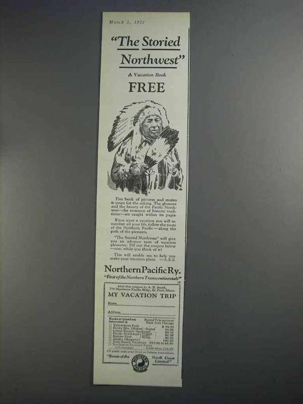 1927 Northern Pacific Railway Ad - Storied Northwest