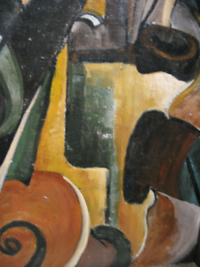 Cubist Oil Painting with rich colours