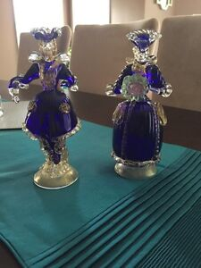 Hand blown glass figurines from Italy antiques