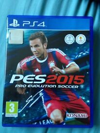 PES 2015 PS4 game