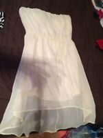 Off white strapless dress LG