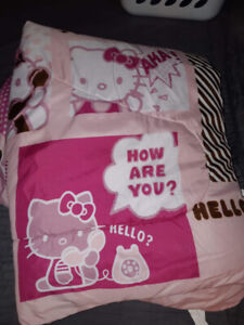 Pour lit simple kit Hello Kitty