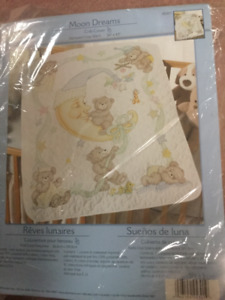 Cross stitch baby quilt kit