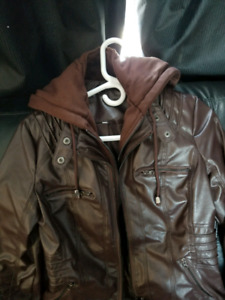 Bonded leather jacket size small