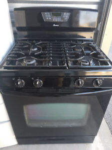Amana 30 inch wide Black Gas Range