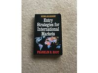 Franklin Root Book 'Entry Strategies for International Market'
