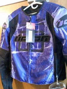 ICON TYPE 1 OVERLORD WOMEN JACKET PURPLE  SIZE M NEW W TAGS