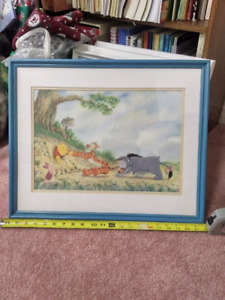 Winnie the Pooh and friend printed picture.