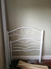 Single metal bed frame