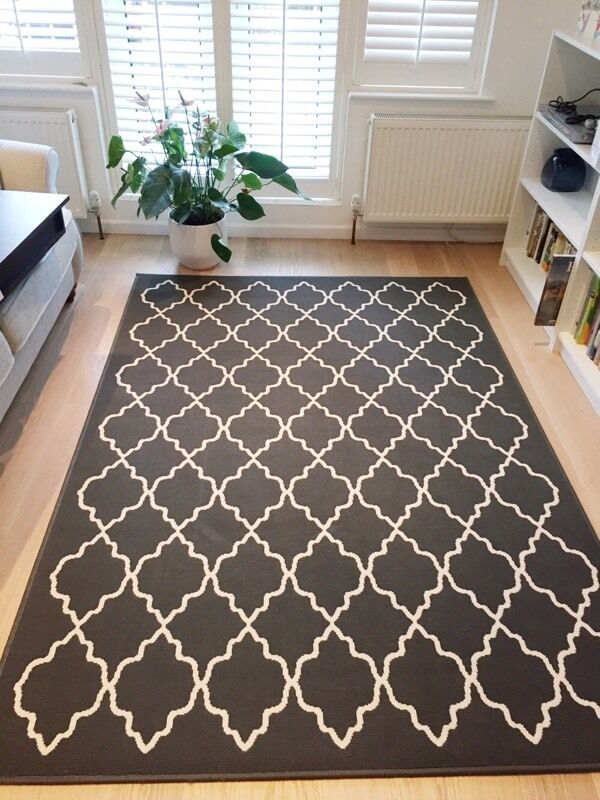 Rug Ikea Hovslund Grey Good As New In Surbiton