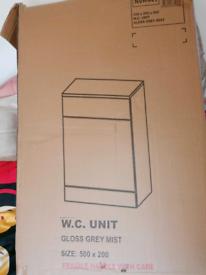 Turin Light Grey 500x200mm BTW Toilet Unit
