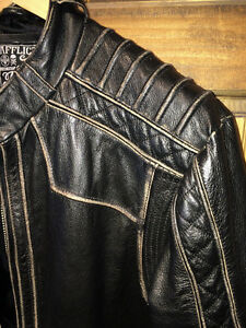 AFFLICTION LEATHER JACKET XL Gatineau Ottawa / Gatineau Area image 3