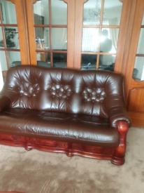 Oak Brown Sofa
