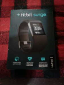 """Mens Fitbit Surge""""L"""". Exc Condition, with box."""