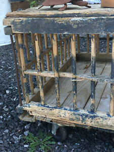 Antique Chicken Crate Table London Ontario image 2