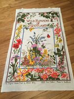 Flowers of Scotland Tea Towel
