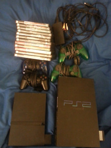 Playstation 2 Phat & Slim Bundle 4 controllers and games!!