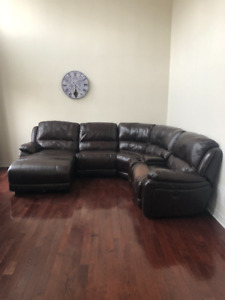 5 PIECE LEATHER SOFA FOR SALE FOR $800 -- PRICE NEGOTIABLE