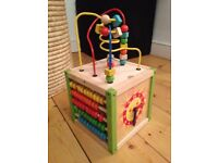 Wooden activity cube