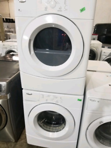 WHIRLPOOL STACKABLE FRONT LOAD WASHER AND DRYER