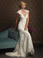Elegant lace gown Allure 8764 in ivory