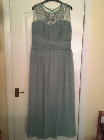 Little Mistress beaded top maxi dress in sage green