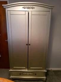 Satin silver wardrobe