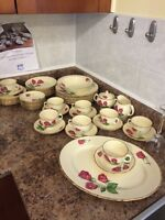 Antique 53 piece China set anniversary rose