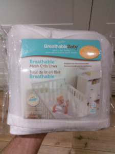 Crib mesh liner, breathable , good safety feature, washed