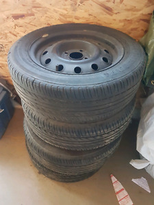 185/60R14 82H M+S Tires and steel rims