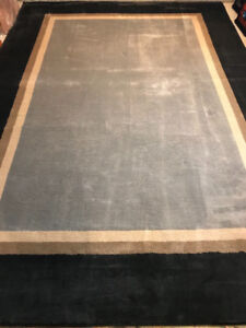 Imported Moro Area Rug - Black, Tan and Grey $750 new  8 x 12'