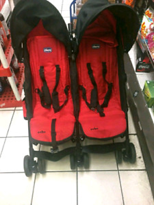 Chicco Ecco double stroller great condition $100 firm