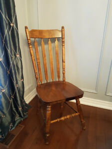 6 Mennonite Made Solid Maple Dining Chairs Available-Beamsville