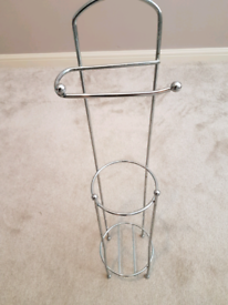 Free standing toilet roll holder