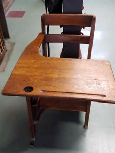 1940 oak school desk