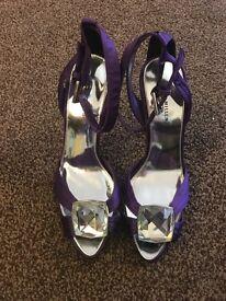 Karen Millen satin sandals