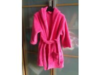 Girls pink dressing gown, clothes 2-3 years