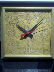 Leather Electric Clock